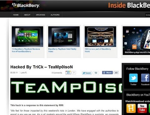 BlackBerry Blog Hack
