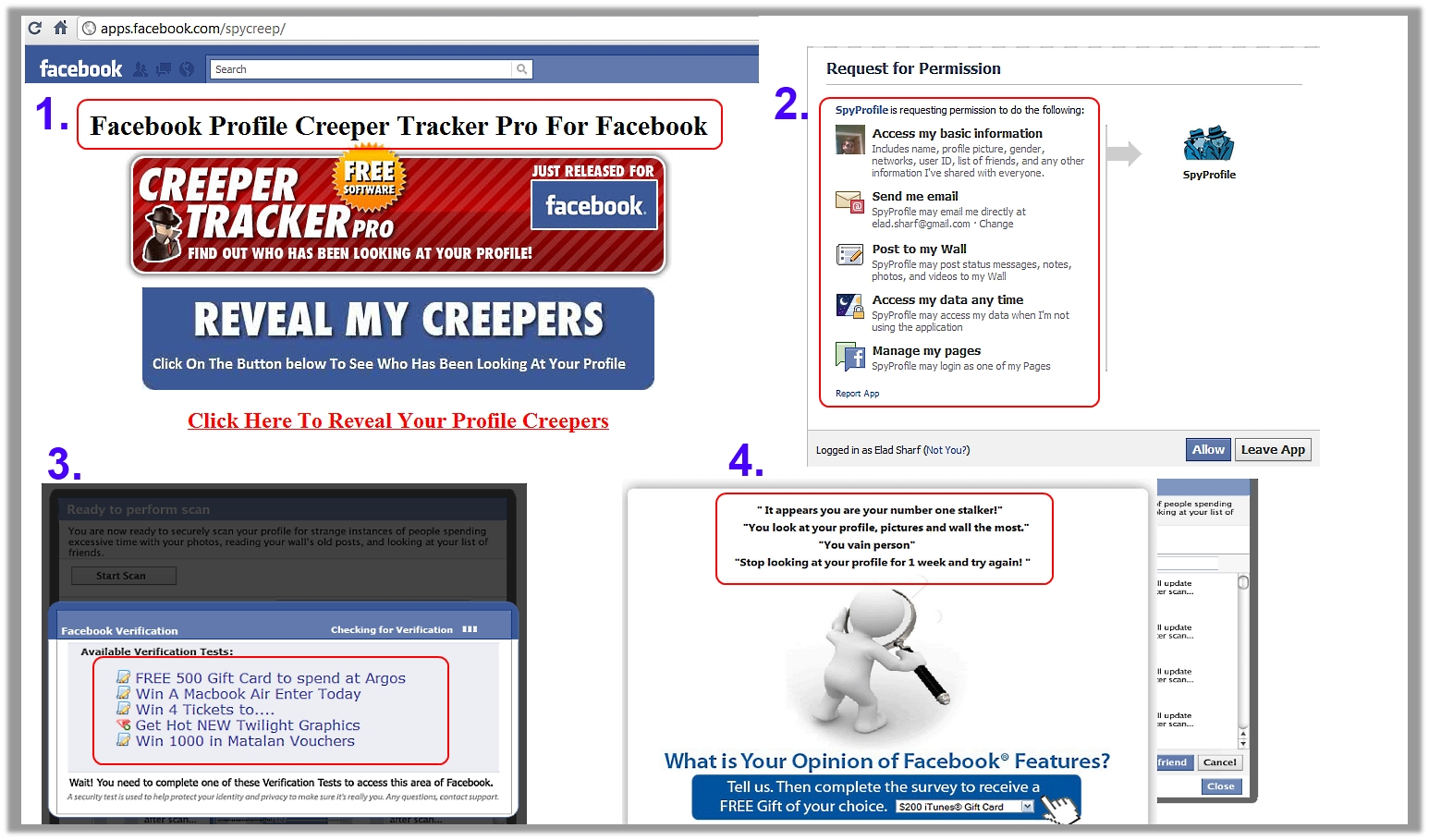 Facebook Profile Creeper Tracker