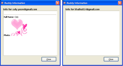 Gtalk buddy information